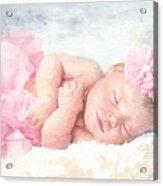 Newborn Girl Asleep In A Tutu Acrylic Print