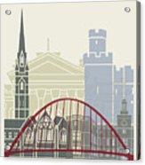 Newcastle Skyline Poster Acrylic Print