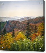 Newfound Gap Acrylic Print by Shirley Braithwaite Hunt