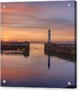 Newhaven Harbour In The Gloaming Acrylic Print