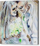 Newly Deads Acrylic Print by Heather Calderon