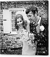 Newlyweds Showered With Rice, C.1960-70s Acrylic Print