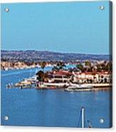 Newport Beach Harbor At Dusk Acrylic Print
