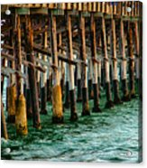 Newport Beach Pier Close Up Acrylic Print
