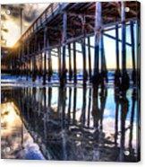 Newport Beach Pier - Reflections Acrylic Print