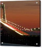 Newport Bridge Twilight Acrylic Print