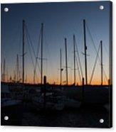 Newport Harbor Rhode Island Boats At Sunset Acrylic Print