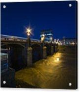 Newport Night Bridge  Acrylic Print