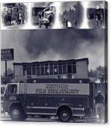 Newport Oregon Fire Department Drill - Practice Fire Drills Acrylic Print