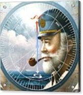 News  Map Captain  Or  Sea Captain Acrylic Print