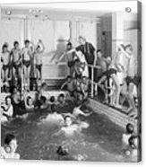 Newsboys Swimming 1900s Acrylic Print