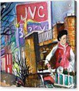 Newspaper Boy Acrylic Print