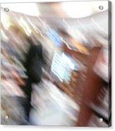 Newstand Blur Acrylic Print