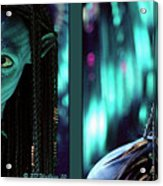 Neytiri - Gently Cross Your Eyes And Focus On The Middle Image Acrylic Print