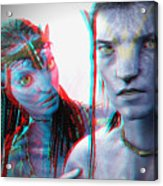 Neytiri And Jake Sully - Use Red-cyan 3d Glasses Acrylic Print
