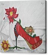 Nfl 49ers Stiletto Acrylic Print