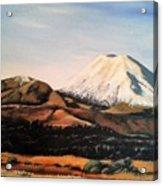 Ngauruhoe Rising Acrylic Print