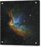 Ngc 7380 In Hubble-palette Colors Acrylic Print by Rolf Geissinger