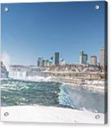 Niagara And Canada Acrylic Print