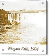 Niagara Falls Ferry Boat, 1904, Vintage Photograph Acrylic Print