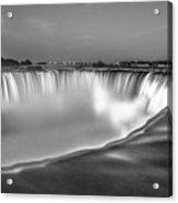 Niagara Falls In Black And White  Acrylic Print