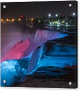 Niagara Falls Light Show Acrylic Print