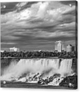 Niagara Falls - The American Side 3 Bw Acrylic Print