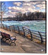 Niagara Rapids In Early Spring Acrylic Print
