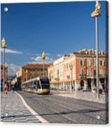 Nice Tramway At Place Massena Acrylic Print