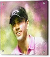 Nick Dougherty In The Golf Trophee Hassan II In Morocco Acrylic Print