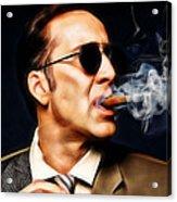Nicolas Cage Collection Acrylic Print