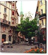 Niederdorf Square In Zurich Switzerland Acrylic Print