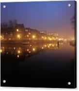 Nieuwekade In Utrecht In The Evening 10 Acrylic Print