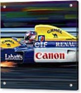Nigel Mansell Williams Fw14b Acrylic Print by David Kyte