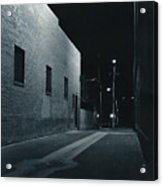 Night Alley To Main Street Acrylic Print