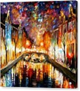 Night Amsterdam Acrylic Print