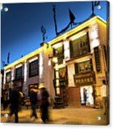 Night At Jokhang Temple Lhasa Kora Tibet Artmif.lv Acrylic Print