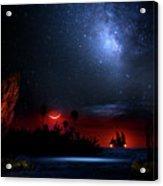 Night At Pirate's Lagoon Acrylic Print