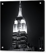 Night At The Empire State Building Acrylic Print