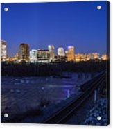 Night At The Floodwall 2 Acrylic Print