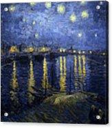 Night At The Lake Acrylic Print