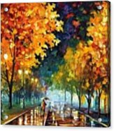 Night Autumn Park  Acrylic Print