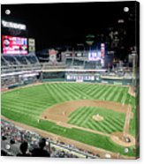 Night Baseball In Minneapolis Acrylic Print