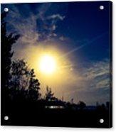 Night Blue Sky Delight.. Acrylic Print