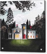 Italian House Country House Detail From Night Bridge  Acrylic Print