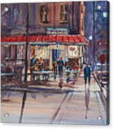 Night Cafe Acrylic Print