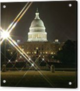Night Capitol Acrylic Print