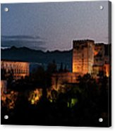 Night Comes To The Alhambra Acrylic Print