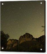 Night Crags Acrylic Print