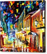 Night Etude - Palette Knife Oil Painting On Canvas By Leonid Afremov Acrylic Print